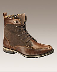 Hamnett Gold Lace Up Worker Boots