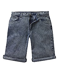 Label J Acid Denim Shorts
