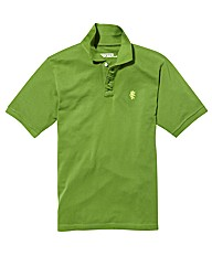 Jacamo Green Embroidered Polo Regular