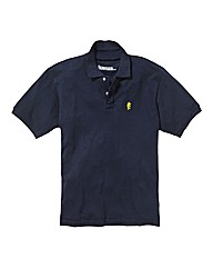 Jacamo Navy Embroidered Polo Regular