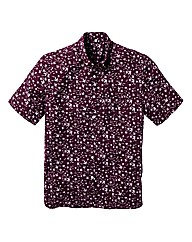 LJ Bird Print Short Sleeve Shirt L