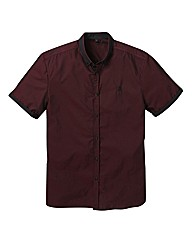 Black Label Cross Dye SS Shirt Reg