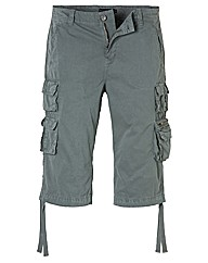 Jacamo Dark Grey 3/4 Cargo Pants