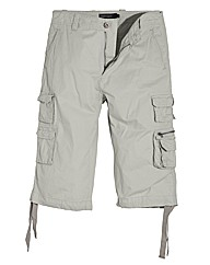 Jacamo Light Grey 3/4 Cargo Pant