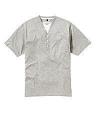 Jacamo Grey Marl Layered T-Shirt Long