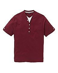 Jacamo Wine Layered T-Shirt Regular