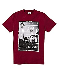 Label J Miami Beach Print T-Shirt Long