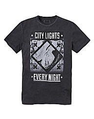 Label J City Lights Print T-Shirt Reg