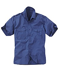 Jacamo Blue Military Shirt Xtra Long