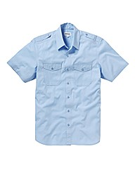 Jacamo Sky Blue Military Shirt Xtra Long