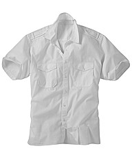 Jacamo White Military Shirt Xtra Long