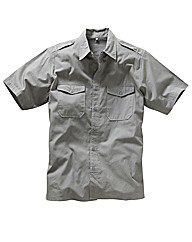 Jacamo Grey Military Shirt Xtra Long