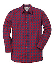 Jacamo Red L/S Western Shirt Regular