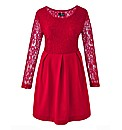 Lovedrobe Lace Body Skater Dress