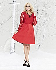 Lovedrobe Lace Body Skater Dress