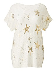 Angel Ribbons Freedom Foil Print Jumper