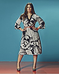 Anna Scholz Belted Print Dress