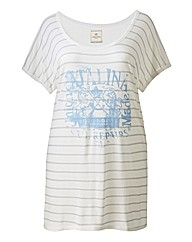 Time Out Stripe Print T Shirt