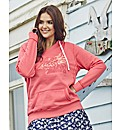 Time Out Embroidered Hooded Top