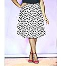 Look Print Midi Skirt