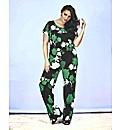 Look Floral Print Jumpsuit