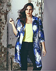 Look Galaxy Print Duster Jacket