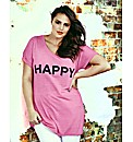 Look Happy Logo Jersey Top
