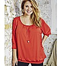 Jeffrey & Paula Pleat Neck Top