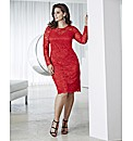 Anna Scholz Long Sleeve Lace Dress