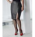 Anna Scholz PU Zip Front Skirt