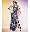 Grazia Border Print Maxi Dress