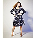 Kelly Brook Print Midi Dress