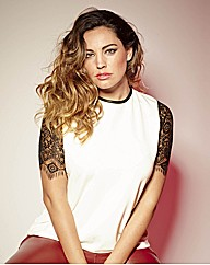 Kelly Brook Lace Sleeve Blouse