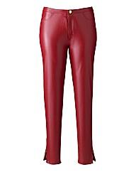 Kelly Brook PU Zip Hem Trousers