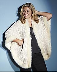 Lovedrobe Faux Fur Cape Jacket