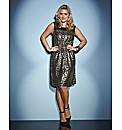 Lovedrobe Metallic Print Dress
