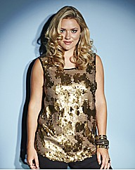 Lovedrobe Sequinned Front Top