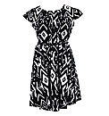Lovedrobe GB Belted Print Skater Dress