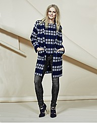 Look Grid Design Check Coat