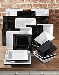 Manhattan 24 Piece Square Dinnerware