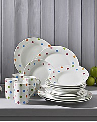 16 Piece Multi Spot Dinner set