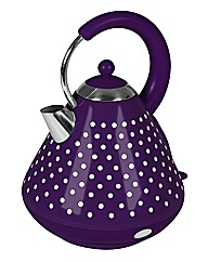 Polka Dot Pyramid Kettle Purple