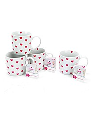 Breast Cancer Campaign 4 Pack Heart Mugs