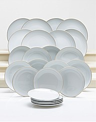 24 Piece Gold Rim Dinner set