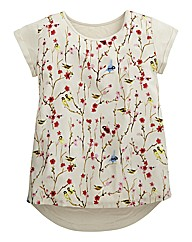 Print Woven Front Top