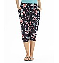 Floral Print Crop Tapered Trousers