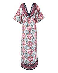 Print Kaftan Maxi Dress Dress
