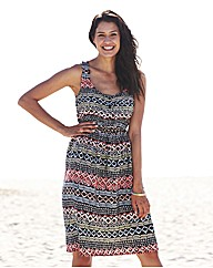 Tribal Print Day Dress