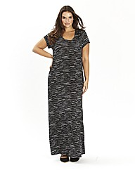 Marled Effect T-Shirt Maxi Dress