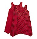 Pack Of 2 Shaped Hem Vests - Bow